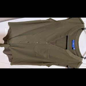 Women's Apt.9 olive green sleeveless blouse